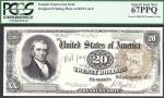 $20 1890 Treasury Note==FRONT= MARSHALL= INTAGLIO==PCGS Superb Gem New 67 PPQ
